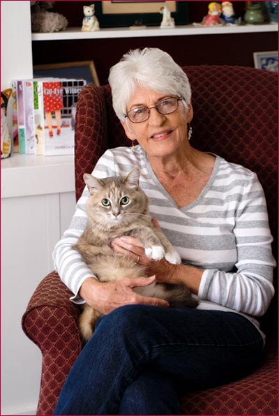 Patricia Fry with Cat